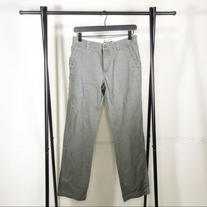 Columbia Grey Khaki Work Pants Straight leg